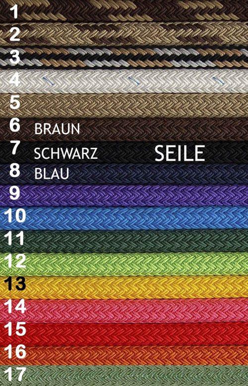 Bodenarbeitsseil Farben